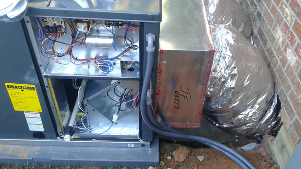 A Repaired AC Unit in Fayetteville